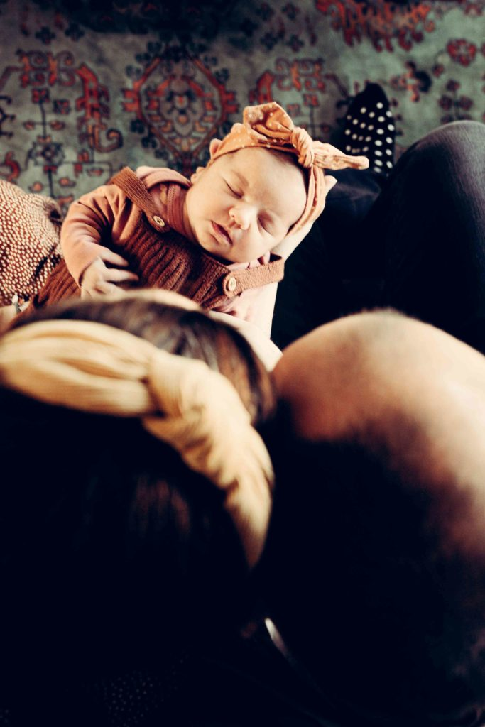 Newborn lifestyle fotoshoot